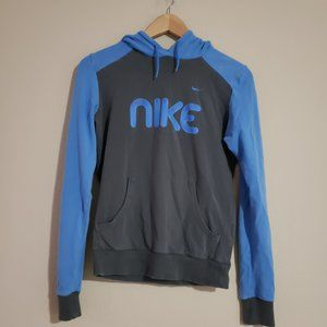 Nike Spell out Gray hooded T-shirt S